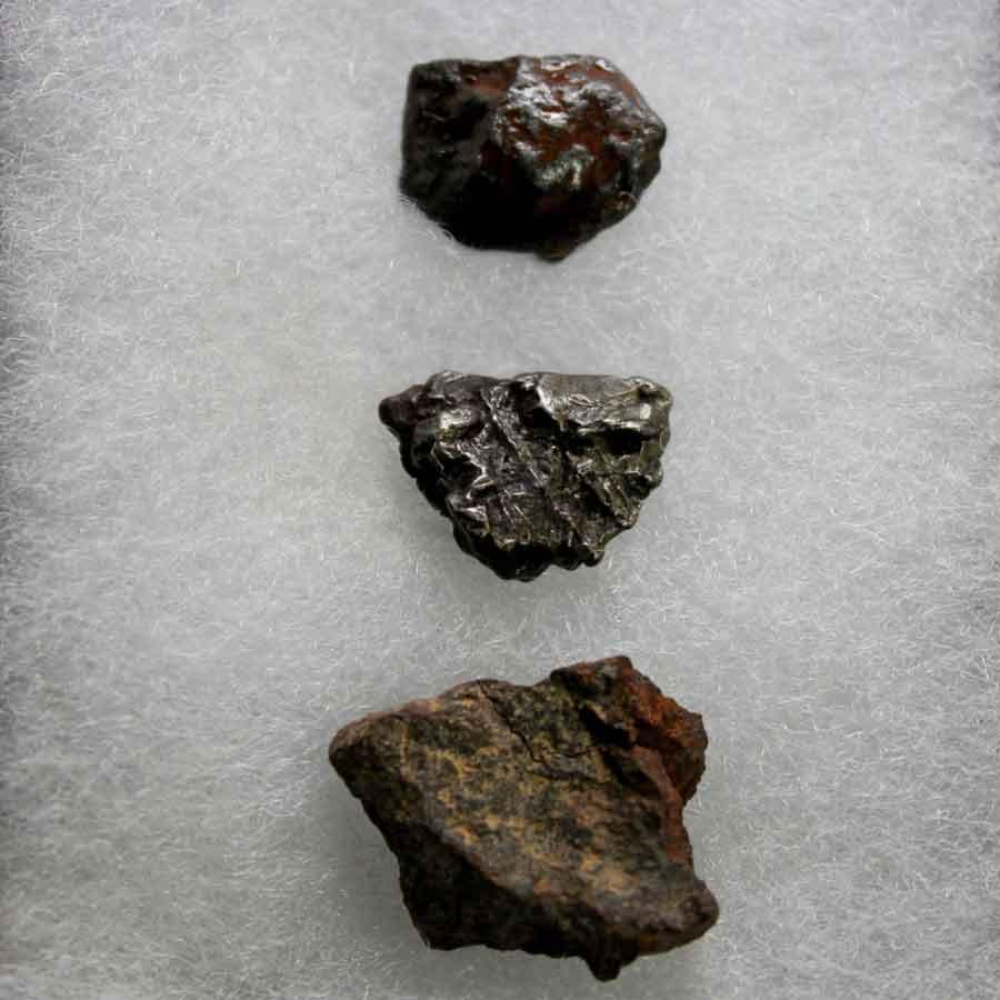 Surtido meteoritos
