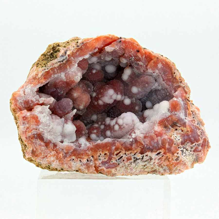 Geoda cuarzo rojo