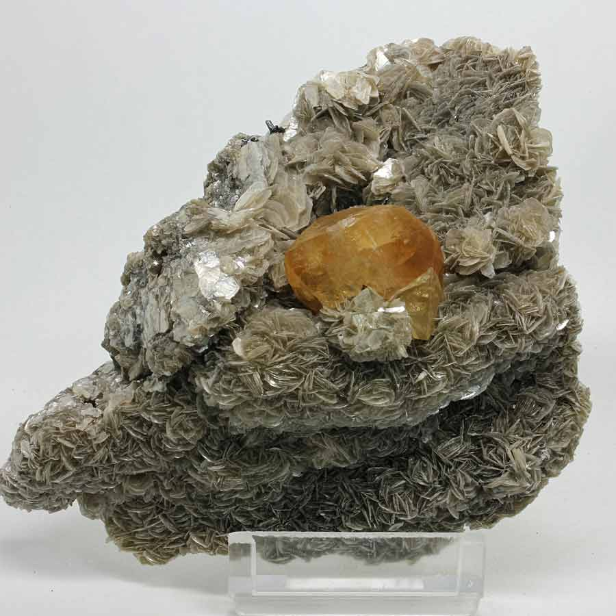 Scheelite with Muscovite -Ping-Wu Mine, Sichuan Province, China