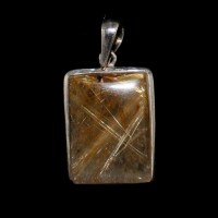 Rutile Quartz Pendant with Silver 925
