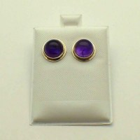 Amethyst Earrings-Sterling silver