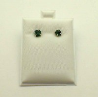 Rough emerald Earrings-Sterling silver