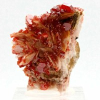 Vanadinite with barite-Coud'a, Mibladen-Meknès-Morocco
